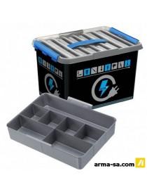 Q-LINE BOX ELECTRICITE - 22L - AVEC INSERT  Boîtes plastiquesSUNWARE