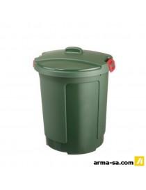 MEGANO POUBELLE └ ORDURES 75L VERT  Boîtes plastiquesSUNWARE