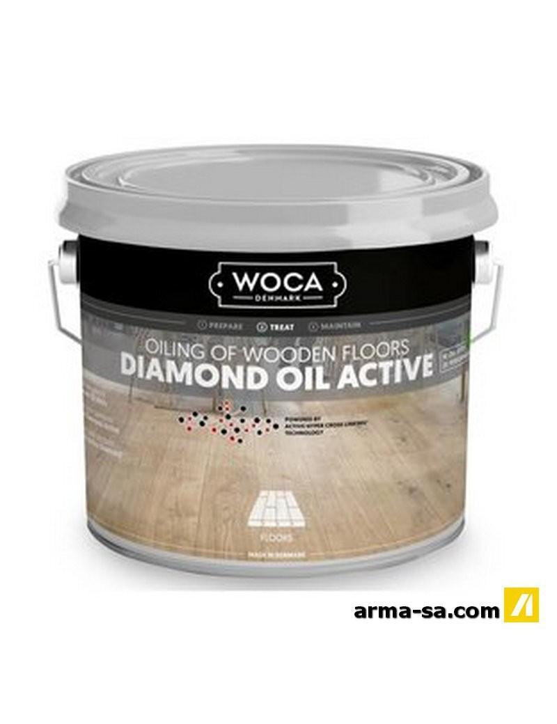 DIAMOND OIL EXTRA BLANC (13%) - 2.5 LITRES  Huiles pour boisWOCA