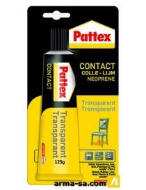 COLLE CONTACT TRANSPARENT 125GR  Colles de contactPATTEX