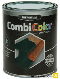 COMBICOLOR LAQUE BRILLANTE VERT MOUSSE 750ML  Peintures pour métauxRUST-OLEUM