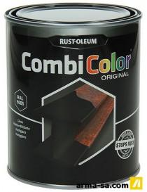 COMBICOLOR BRILLANT 7379 RAL 9005 0,75L  Peintures pour métauxRUST-OLEUM