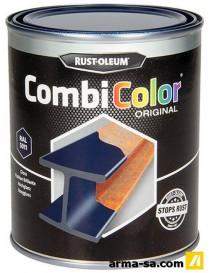 COMBICOLOR LAQUE BRILLANTE BLEU ACIER 750ML  Peintures pour métauxRUST-OLEUM