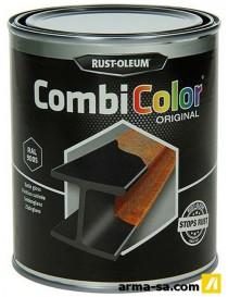 COMBICOLOR LAQUE SATINEE NOIR 750ML  Peintures pour métauxRUST-OLEUM
