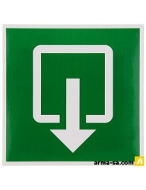 PICTOGRAMME SORTIE NORMALE 20X20CM  PictogrammesPICK UP