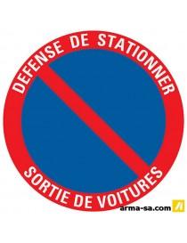 PICTOGRAMME 'DEFENSE DE STATIONNER-SORTIE DE VOITURE' ╪18CM  PictogrammesPICK UP