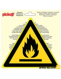 PICTOGRAMME MATIERES INFLAMMABLES 20CM  PictogrammesPICK UP
