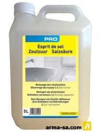 ACIDE CHLORHYDRIQUE 23% 5L (ESPRIT DE SEL)  Produits chimiquesLAMBERT CHEMICALS