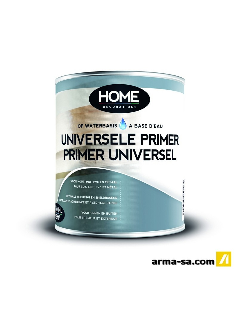 PRIMER UNIVERSEL A BASE D'EAU BLANC 2,5L  Primers universelsHOME DECORATIONS
