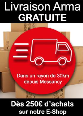 Livraison gratuite dans un rayon de 30km dès 250€ d'achats