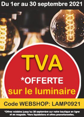 TVA offerte sur tout le luminaire