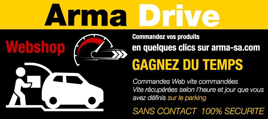 ARMA DRIVE commande en ligne et retrait sur le parking SANS CONTACT - 100% SECURITE
